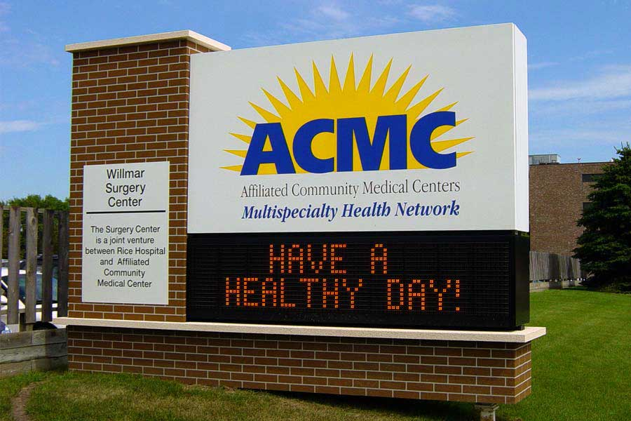 ACMC - Affiliated Community Medical CentersHealthcare Fiberglass,Digital Sign