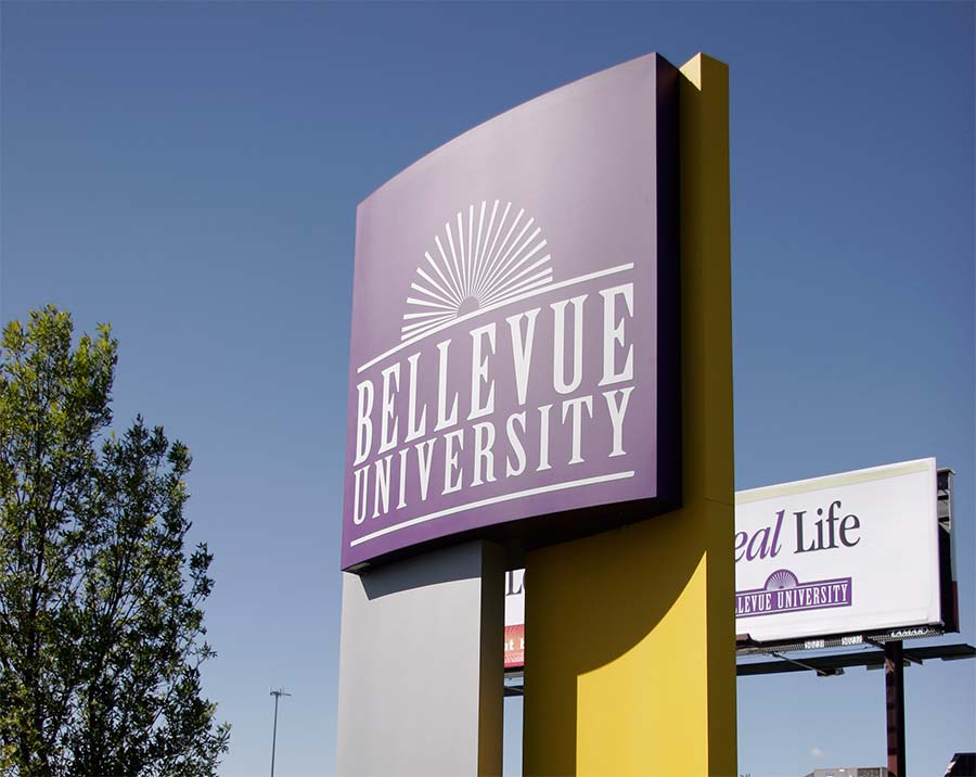 Bellevue UniversityEducation Aluminum Sign