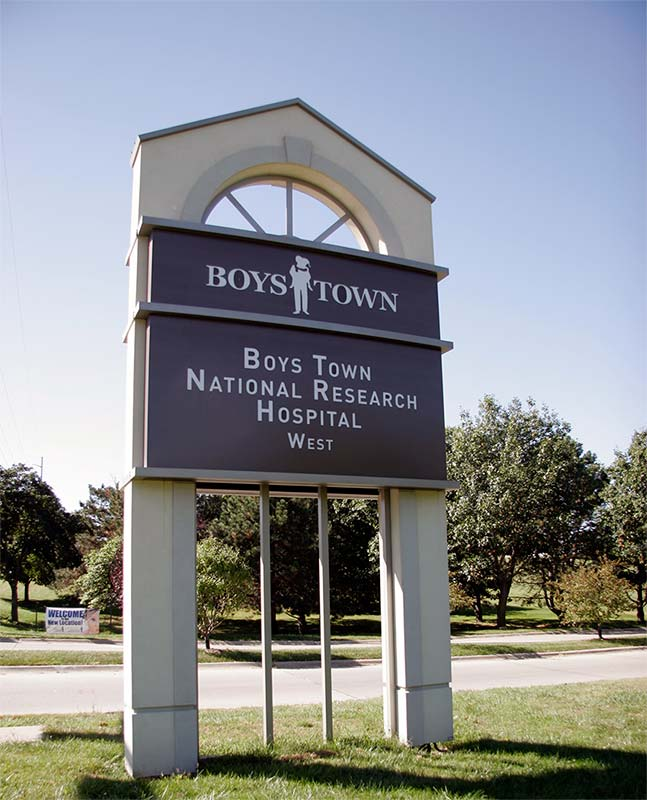 BoysTownHealthcare Aluminum Sign