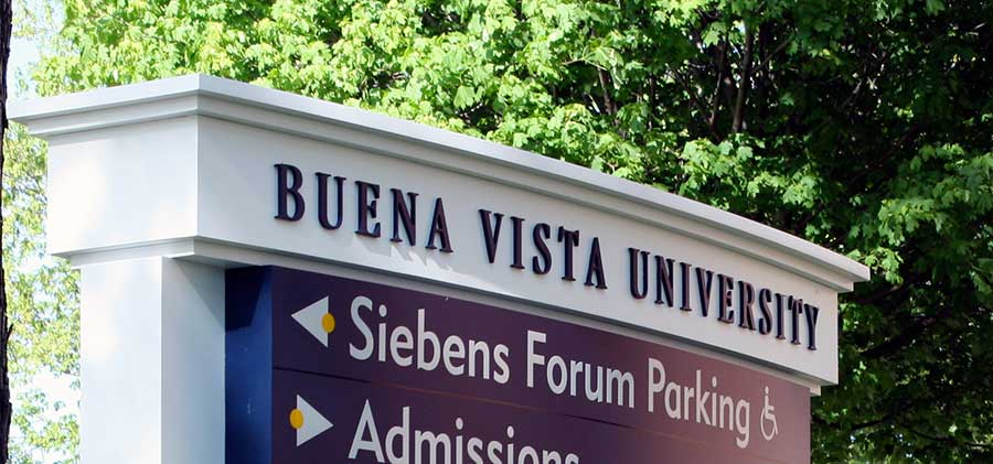 Buena Vista UniversityEducation Aluminum Sign