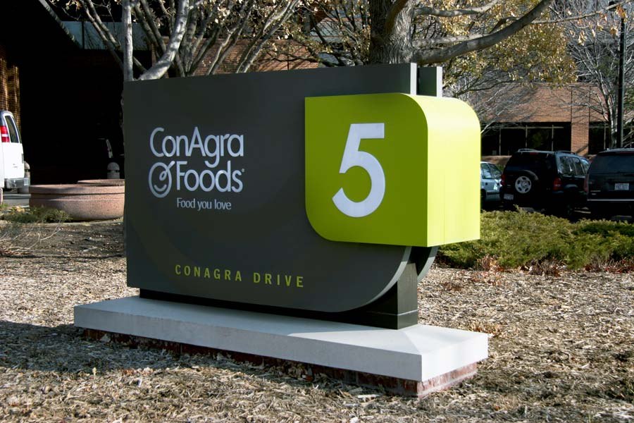 ConAgra FoodsCorporate Aluminum Sign