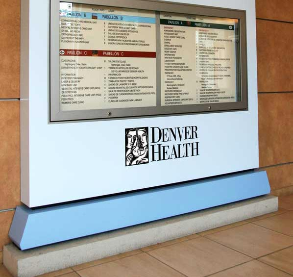 Denver HealthHealthcare Aluminum Sign