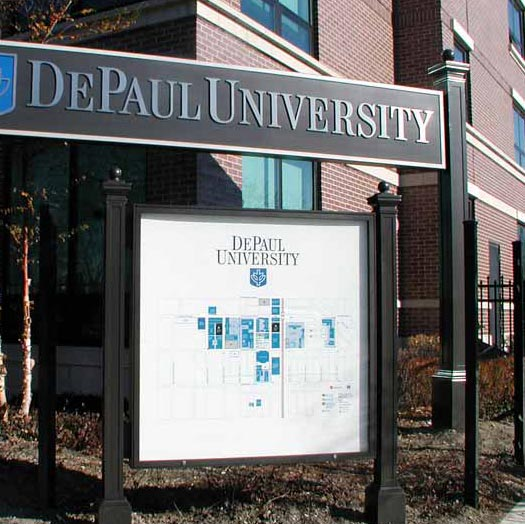 DePaul UniversityEducation Aluminum,Dimensional Letters,Custom Sign