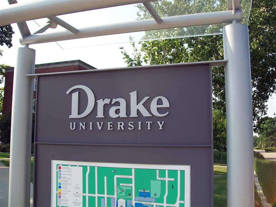 Drake UniversityEducation Aluminum,Dimensional Letters,Custom Sign