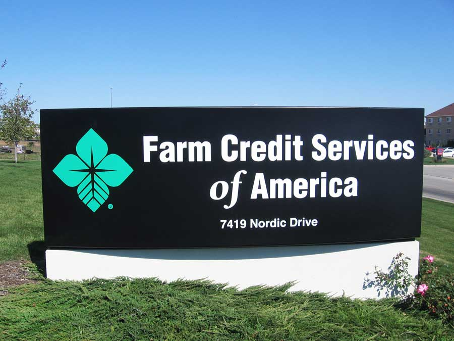 Farm Credit Services of AmericaCorporate Fiberglass Sign