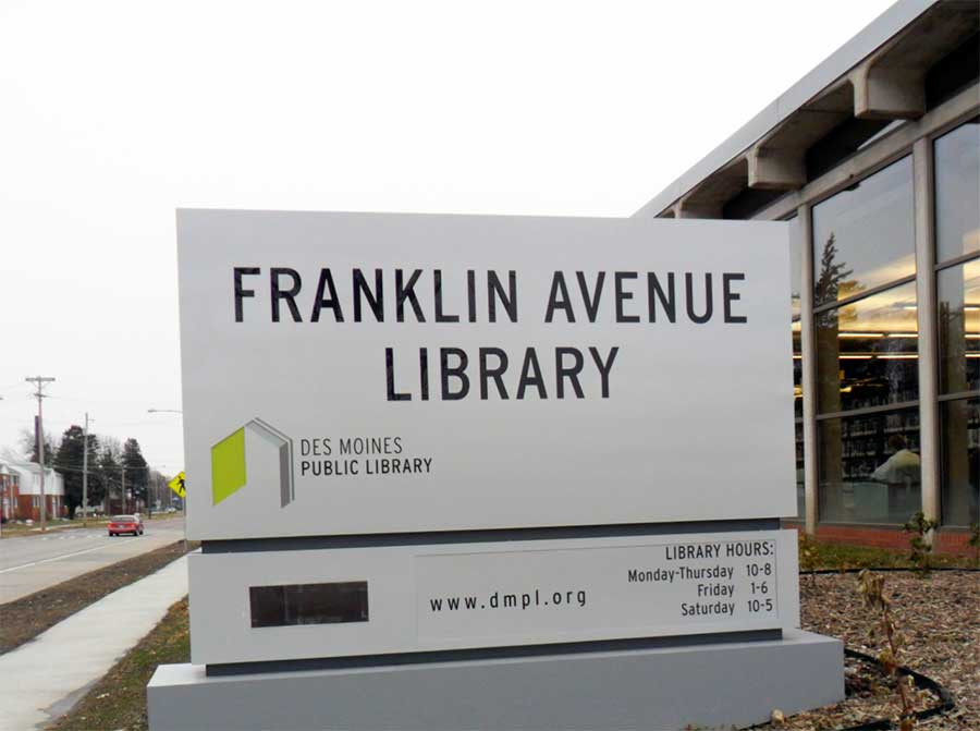 Franklin Avenue LibraryGovernment Aluminum,Digital Sign