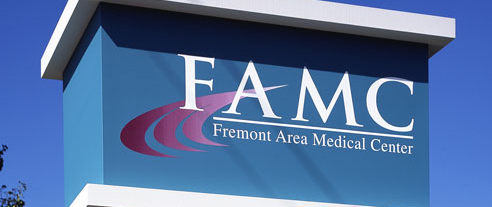 Freemont Area Medical CenterHealthcare Aluminum Sign