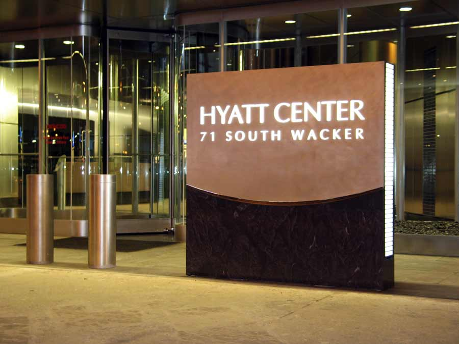Hyatt CenterRetail Aluminum Sign