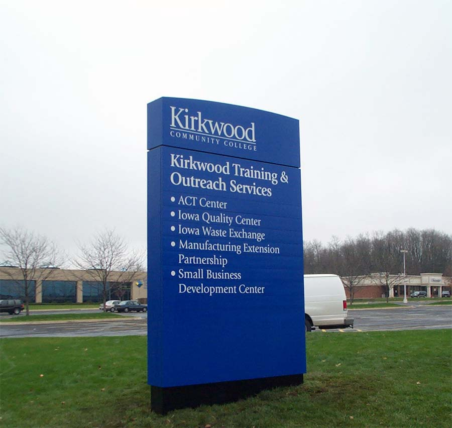 Kirkwood Training & Outreach ServicesEducation Aluminum Sign