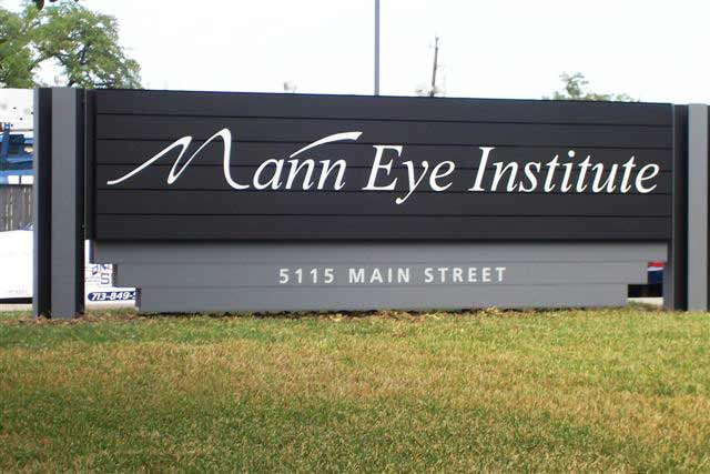 Mann Eye InstituteHealthcare Aluminum Sign