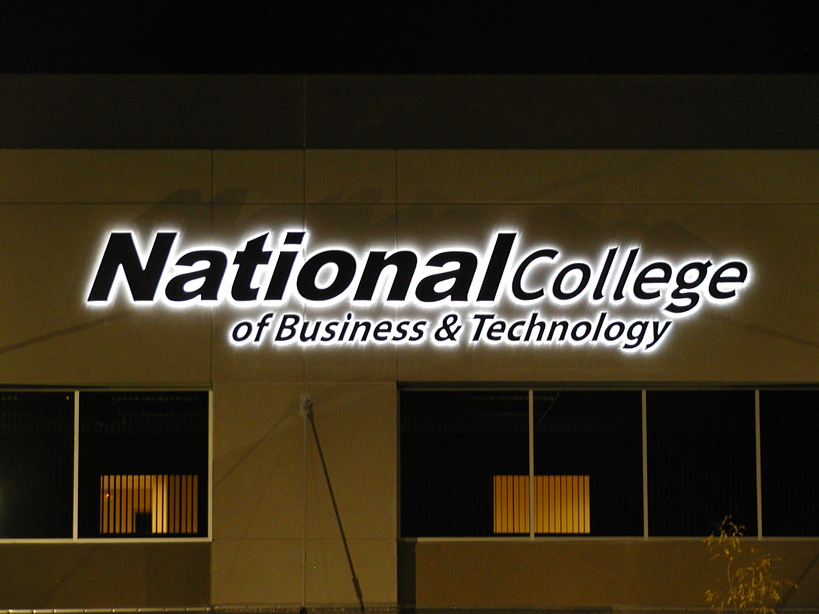 National College of Business and TechnologyEducation Dimensional Letters Sign