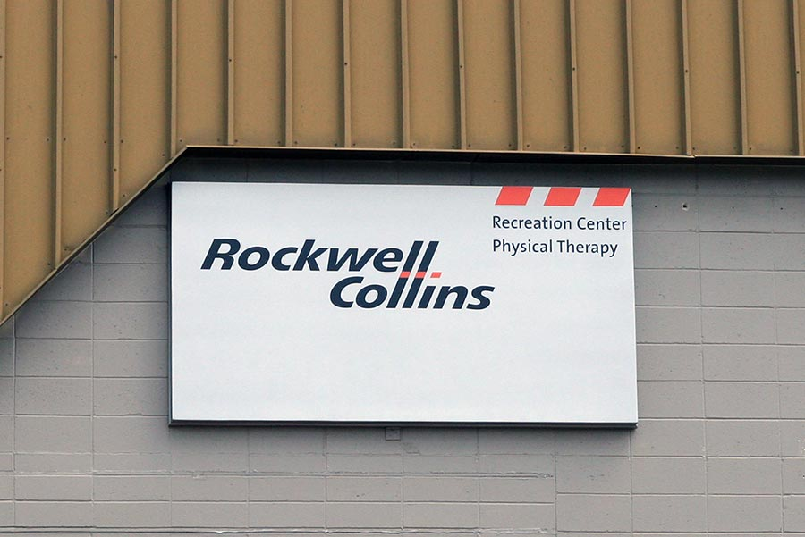 Rockwell CollinsCorporate Fiberglass Sign